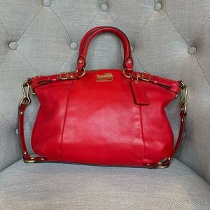 Coach Sophia Madison Cherry Red Handbag